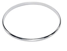 Simple Plain Sterling Silver Flat Slave Bangle