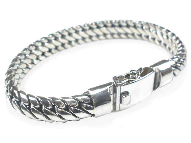 Sterling Silver Unusual Link Heavy Bracelet